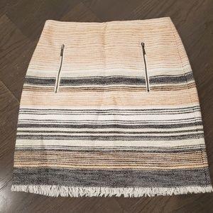LOFT Petite Striped Skirt